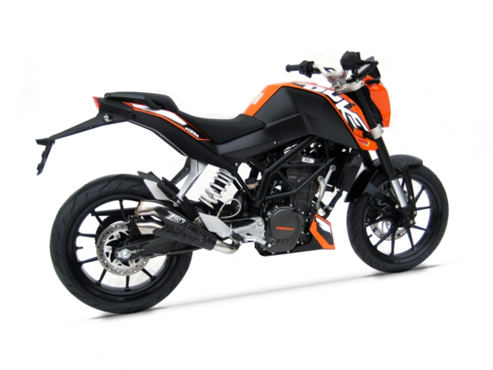 echappement zard v2 ktm duke 125 200 zard echappement echappement. Black Bedroom Furniture Sets. Home Design Ideas
