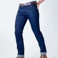 Jeans Moto Bolid'ster Hip'ster Indigo Homme