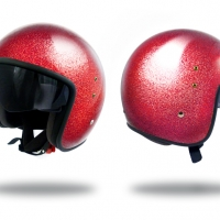 Casque Jet Torx Up-Torx Glitter Rouge
