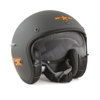 Casque Jet Harisson Corsair Star Déco Gris / Orange