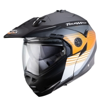 Casque Modulable Caberg Tourmax Gun Métal Mat/Orange/Blanc