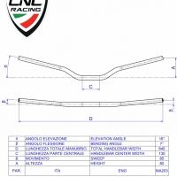 Guidon diametre 22 mm CNC racing