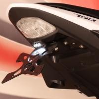 Support De Plaque Evotech SUZUKI GSR 750 + LED