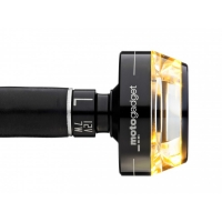 Clignotant LED Motogadget Mblaze Disq Noir ou Poli Embout de Guidon
